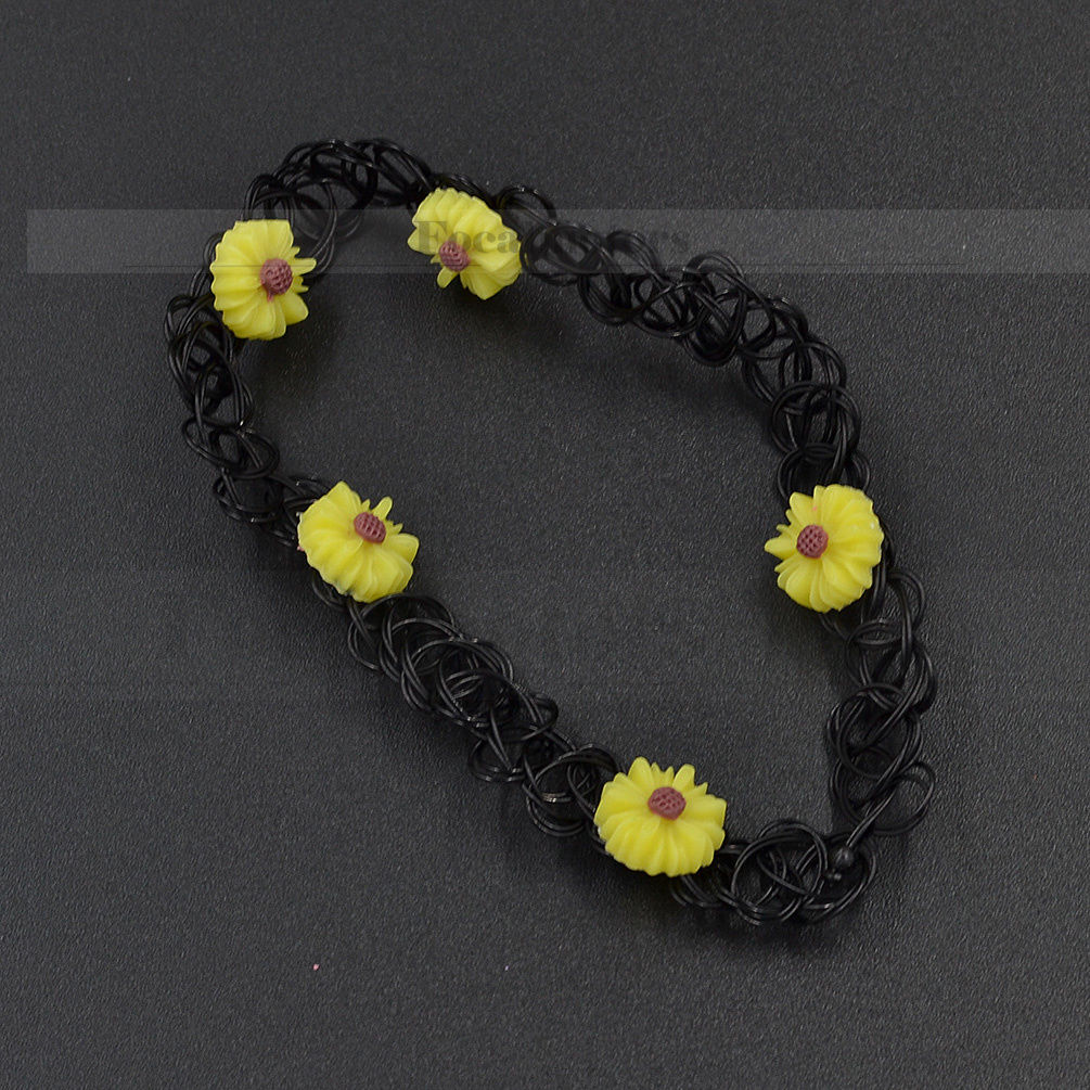 Vintage Stretch Tattoo Choker Necklace Elastic Punk Gothic Velvet Choker 80 90S