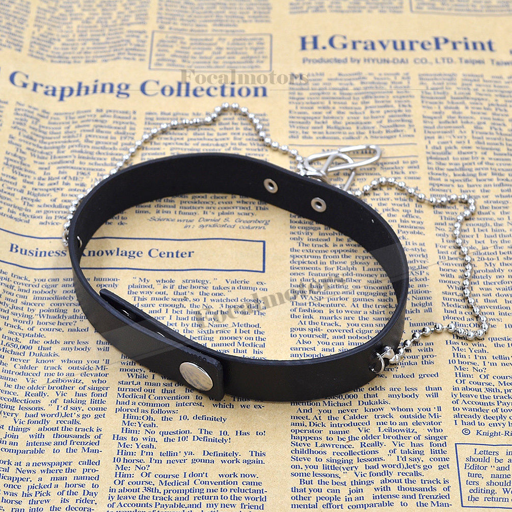 Collar Punk Goth Heart Cross Choker Necklace Ring Harajuku Leather Neck Ring New