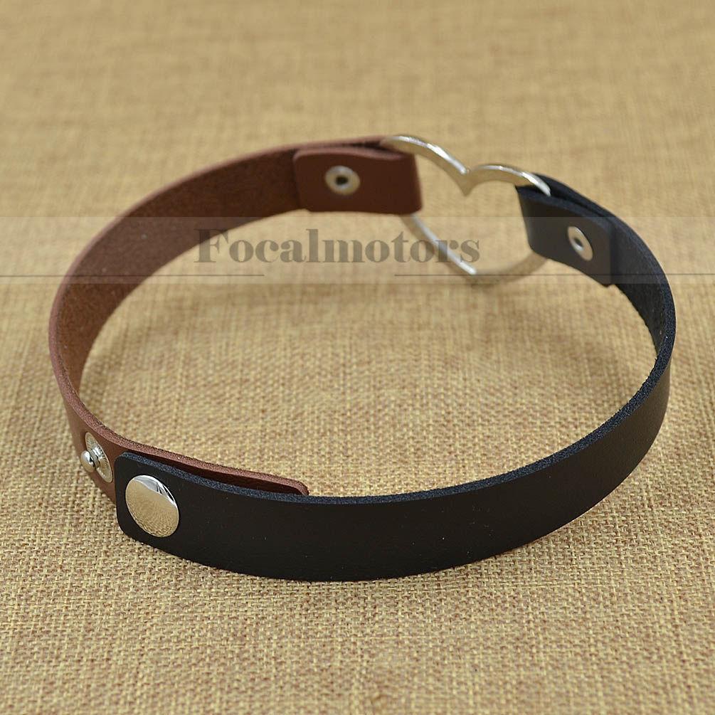 Collar Punk Goth Heart Cross Choker Necklace Ring Harajuku
