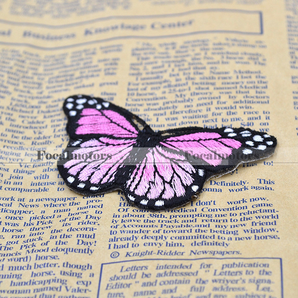 Butterfly Embroidered Applique Iron On Patch Craft Cute Lovely Free Shipping 1PC