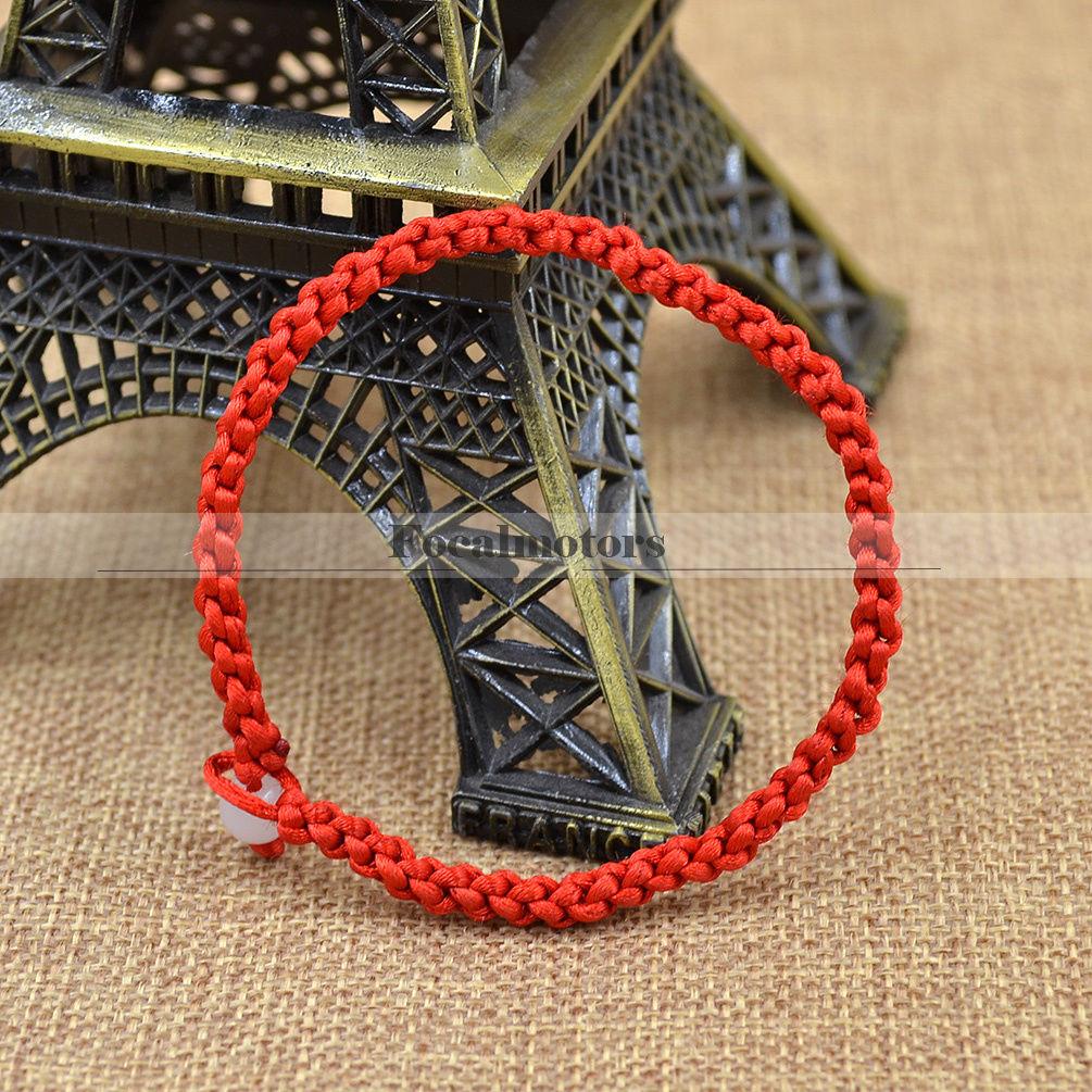 Hand Braided Red Lucky String Rope Cord Bracelet Handmade Adjustable