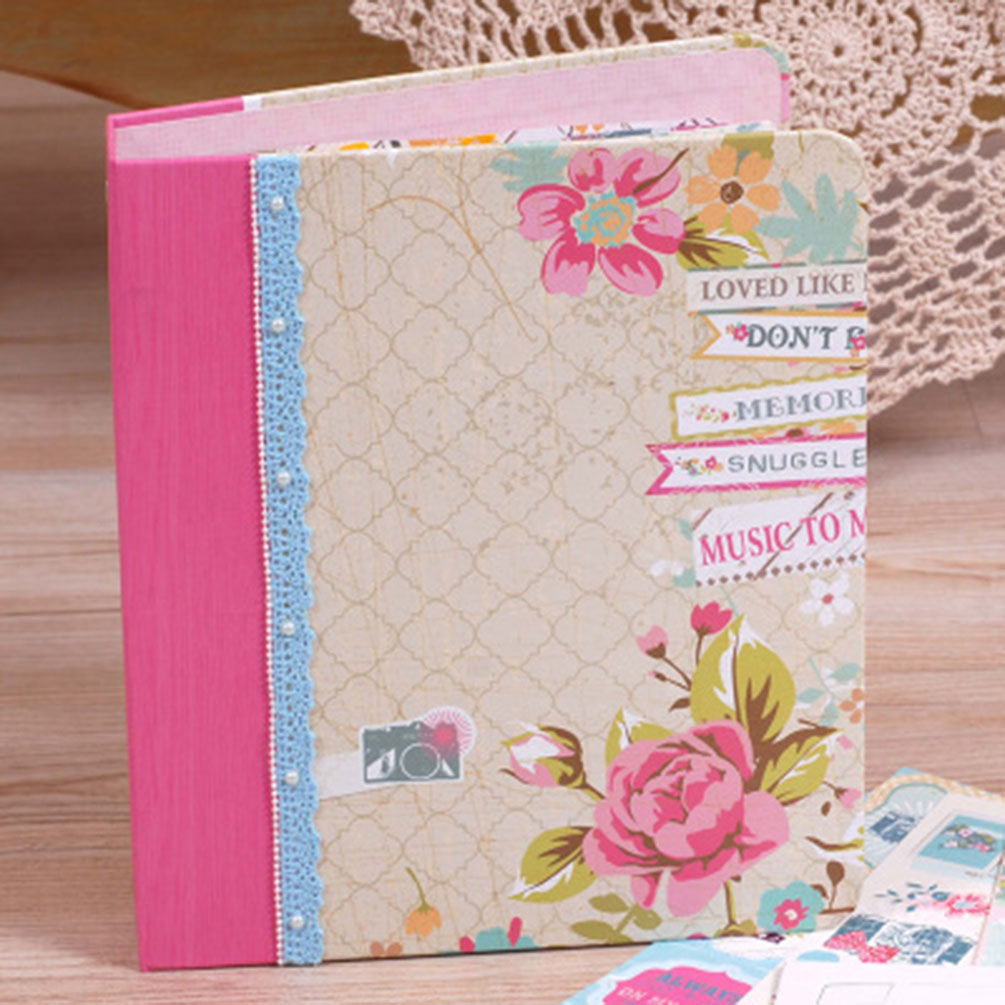 Vintage binder scrapbooking album diy hand craft kit for American crafts 3 ring scrapbook album binder