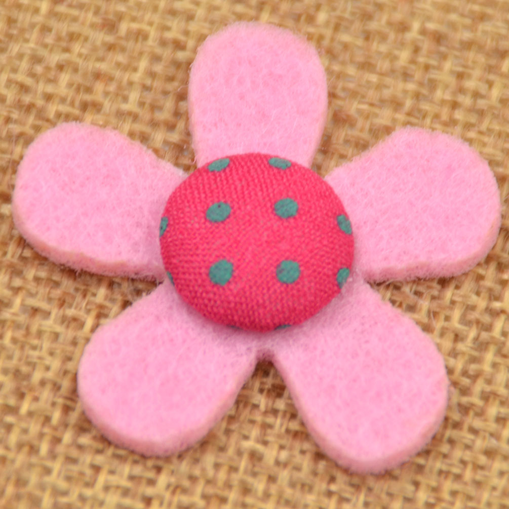 20ps flowers felt non woven patch craft sewing appliques for Applique decoration