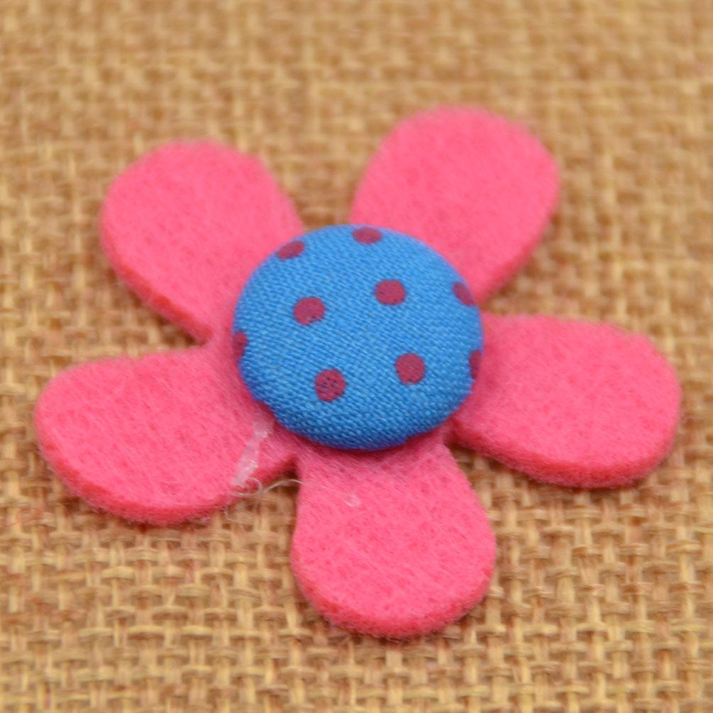 20ps flowers felt non woven patch craft sewing appliques for Applique decoration