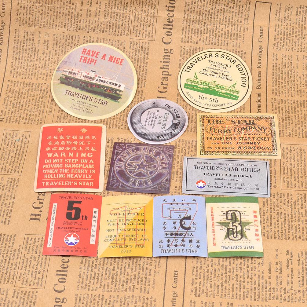 Vintage Travel Journey Paper Stickers Set DIY Photo Ablum ...