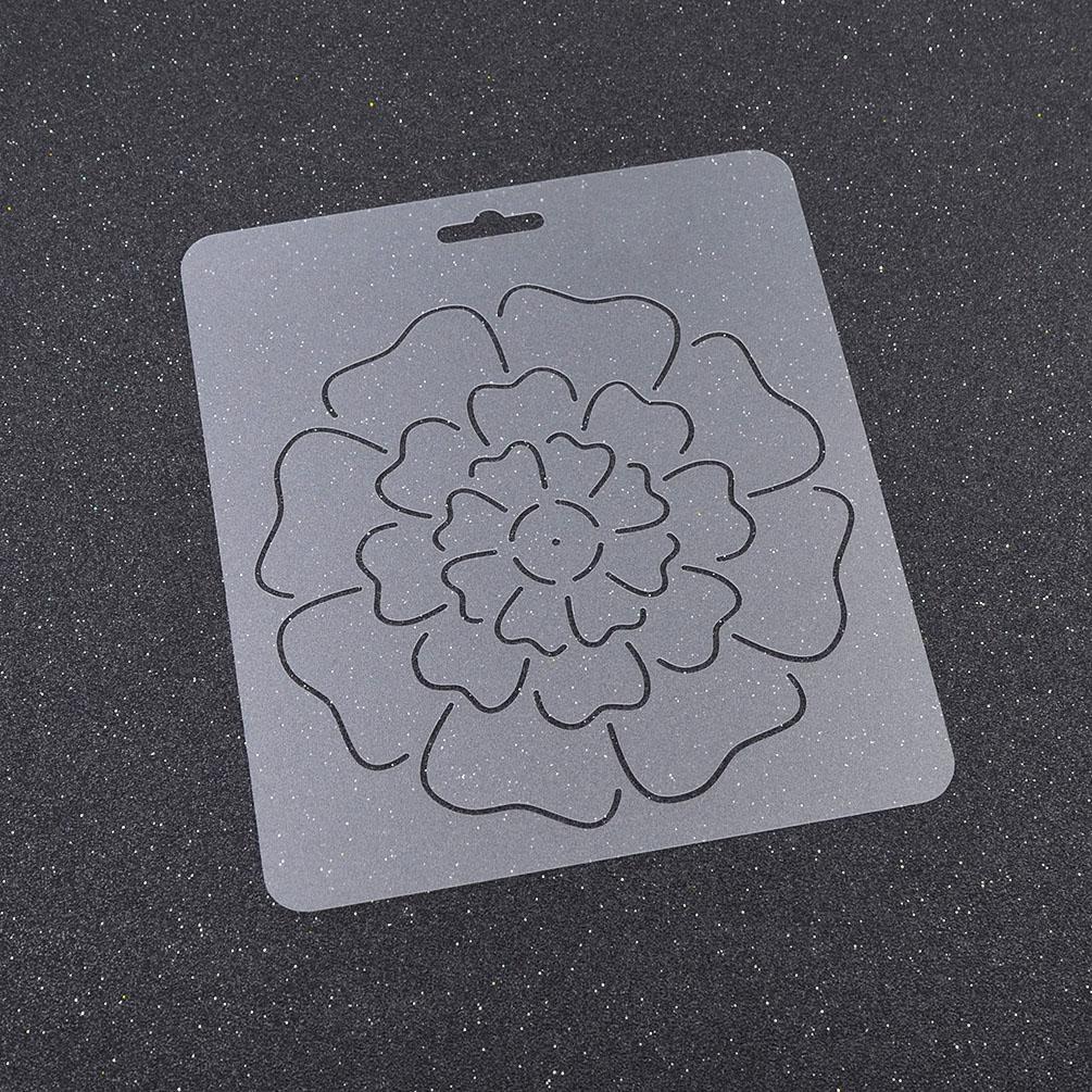 Transparent Plastic Quilting Stencil DIY Stitch Craft Coin Flower ...