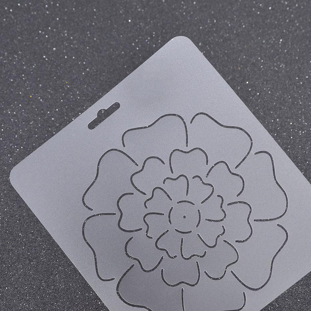 Transparent Plastic Quilting Stencil DIY Stitch Craft Coin Flower Design 1pc eBay