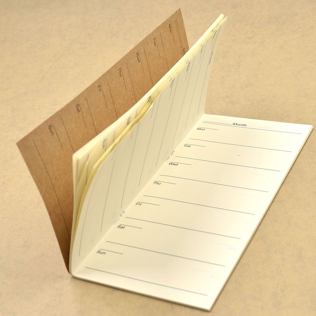 Kraft Paper Book Cover : Kraft cover weekly plan notebook paper memo diary work