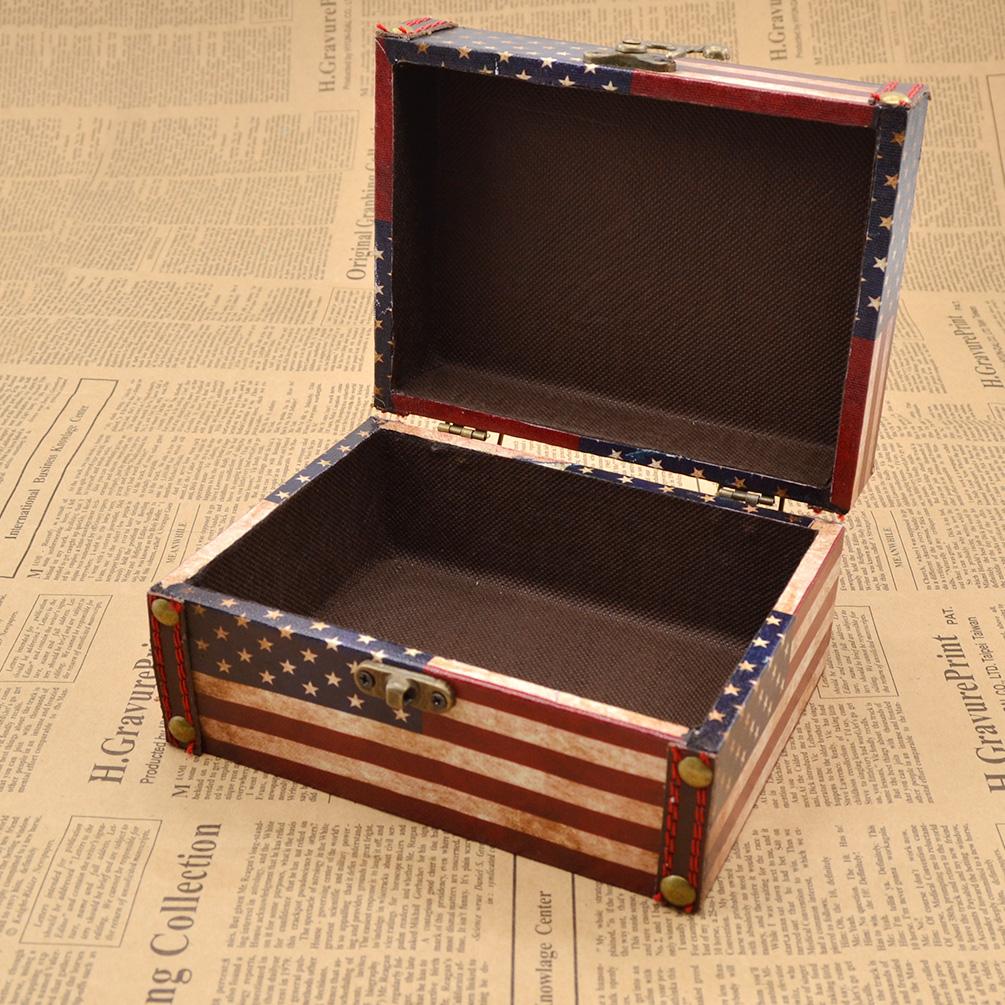 Antique vintage wooden jewelry storage box keepsake for Vintage antique jewelry box