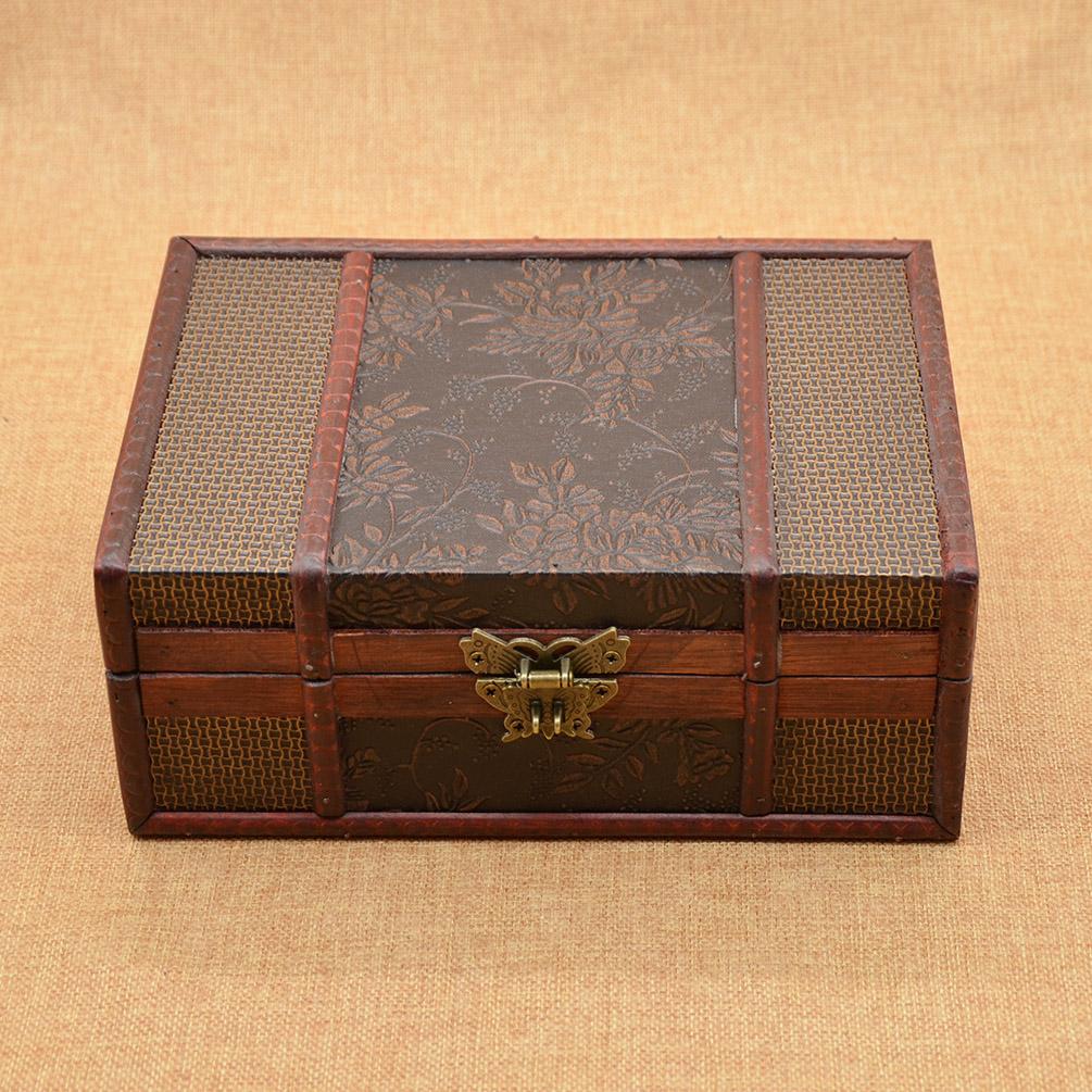 Vintage Wooden Chest ~ Antique vintage wooden jewelry storage box keepsake