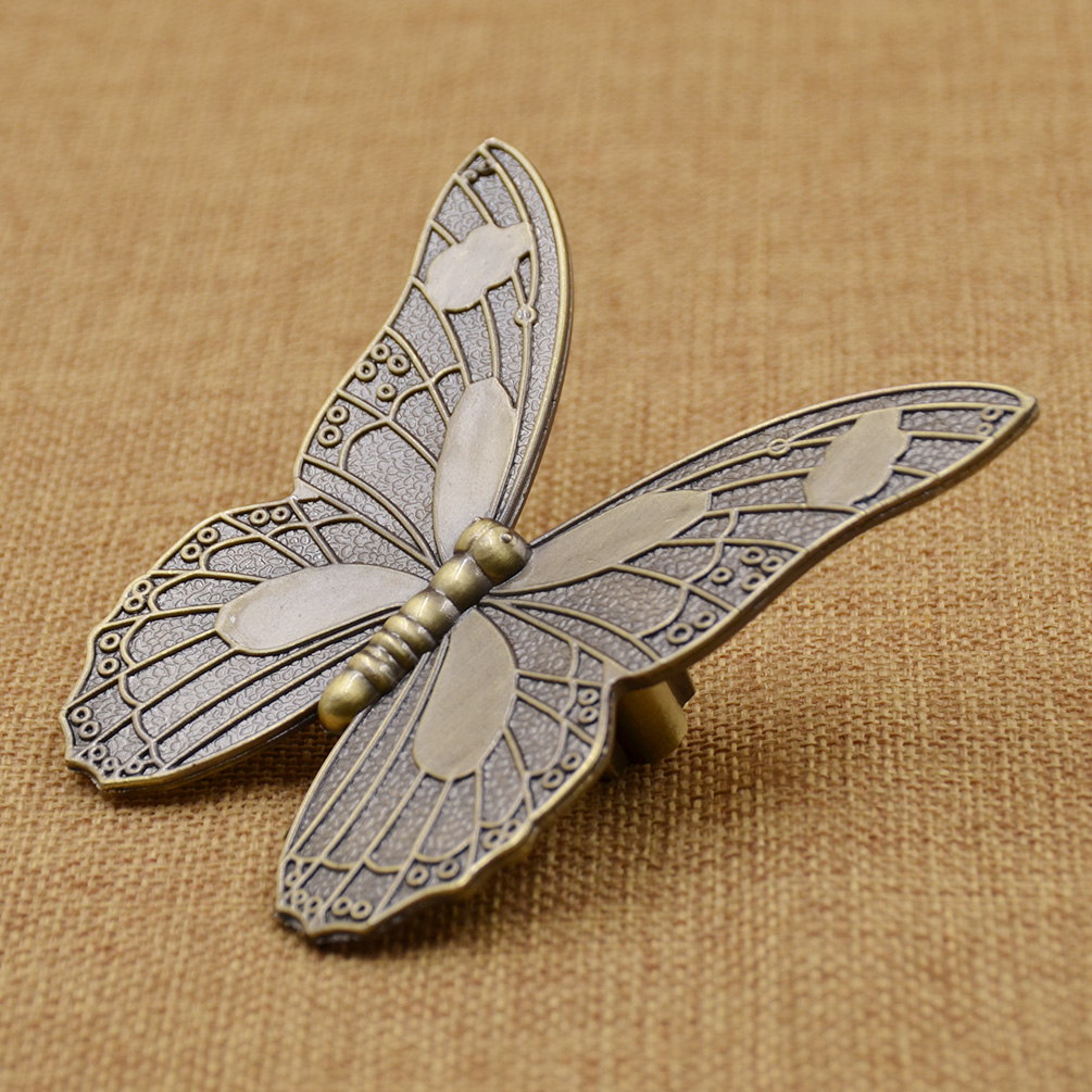 Antique Butterfly Drawer Handle Knob Kitchen Cabinet ...