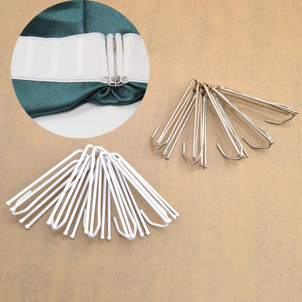 5pcs Stainless Steel Curtain Pleat Prong Forks Hook Drapes Curtain ...