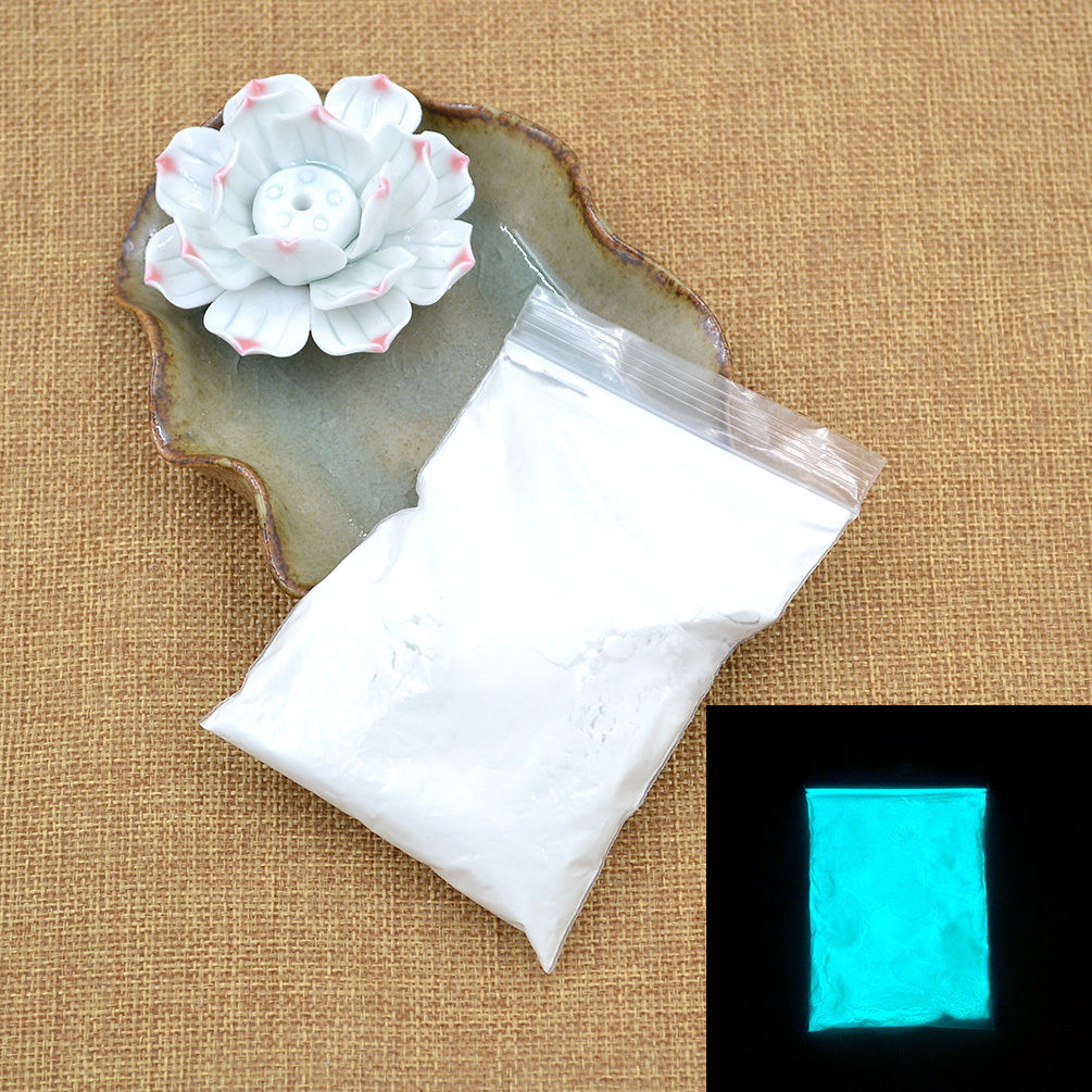 Glow in the Dark Powder Pigment Fluorescent Paint Coating Blue Green 50g 1 Pack