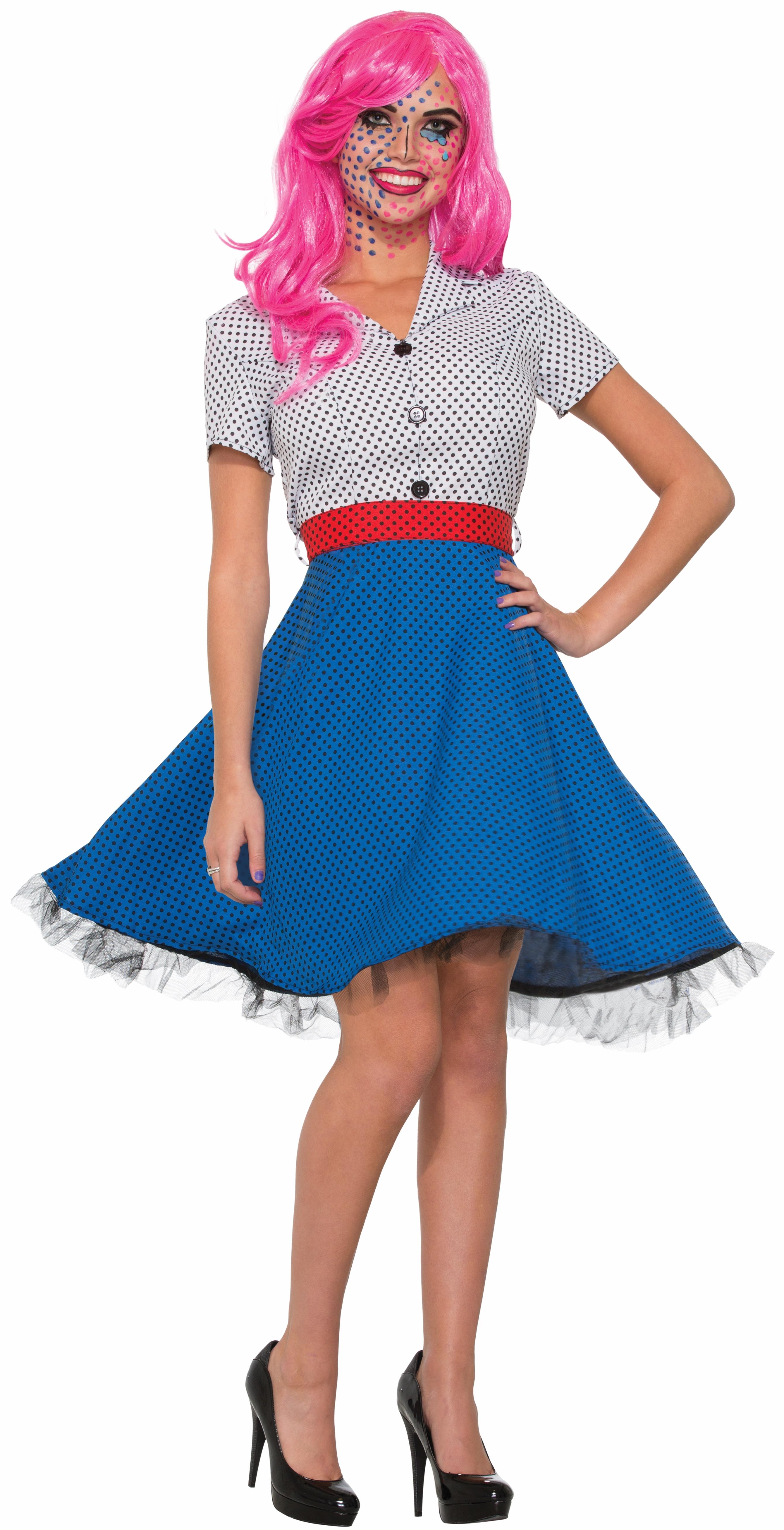 Women's Pop Art Ms. Dottie Fancy Dress Comic Book Cartoon ...