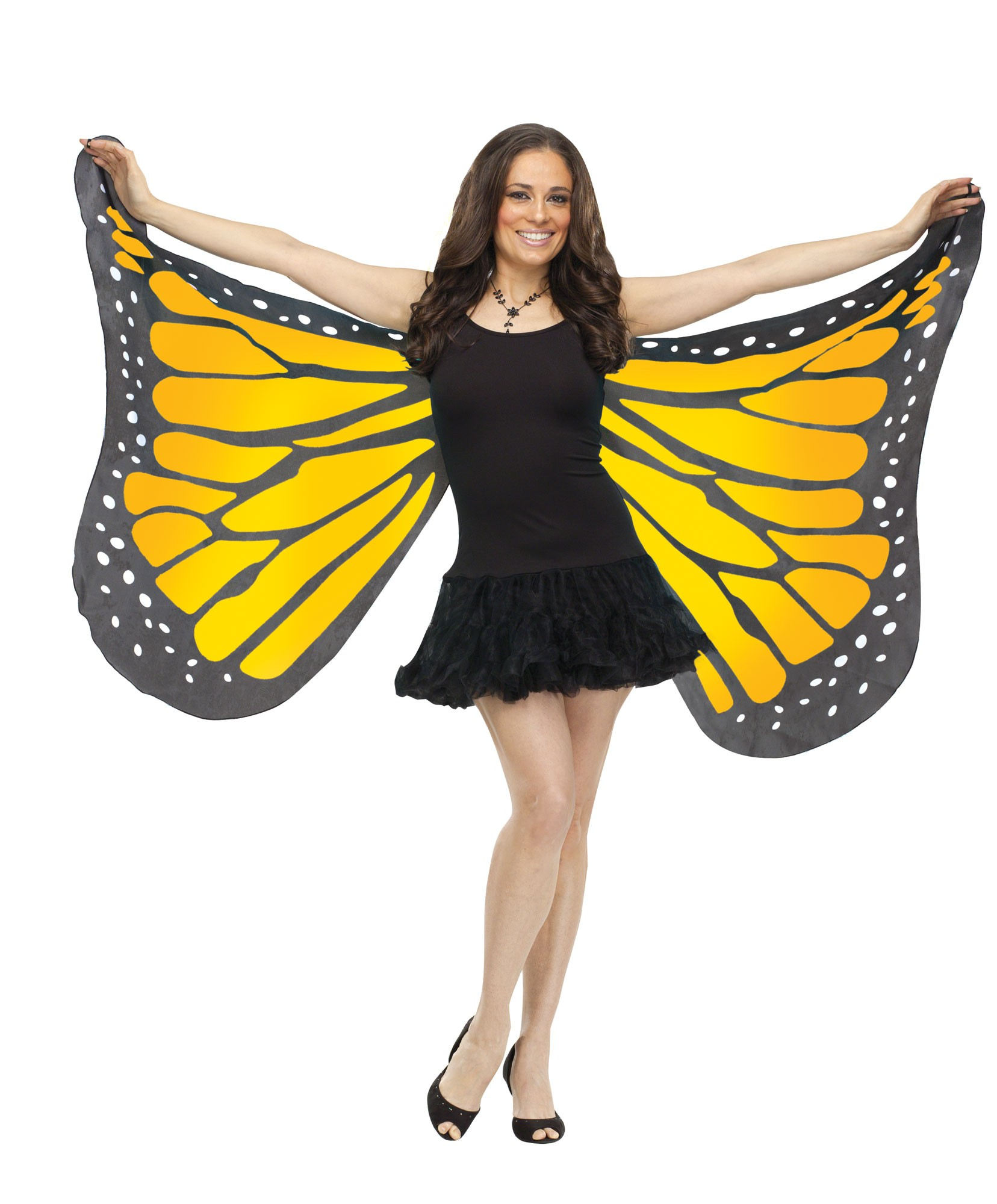 monarch butterfly wings adult halloween costume accessory orange blue purple new ebay. Black Bedroom Furniture Sets. Home Design Ideas
