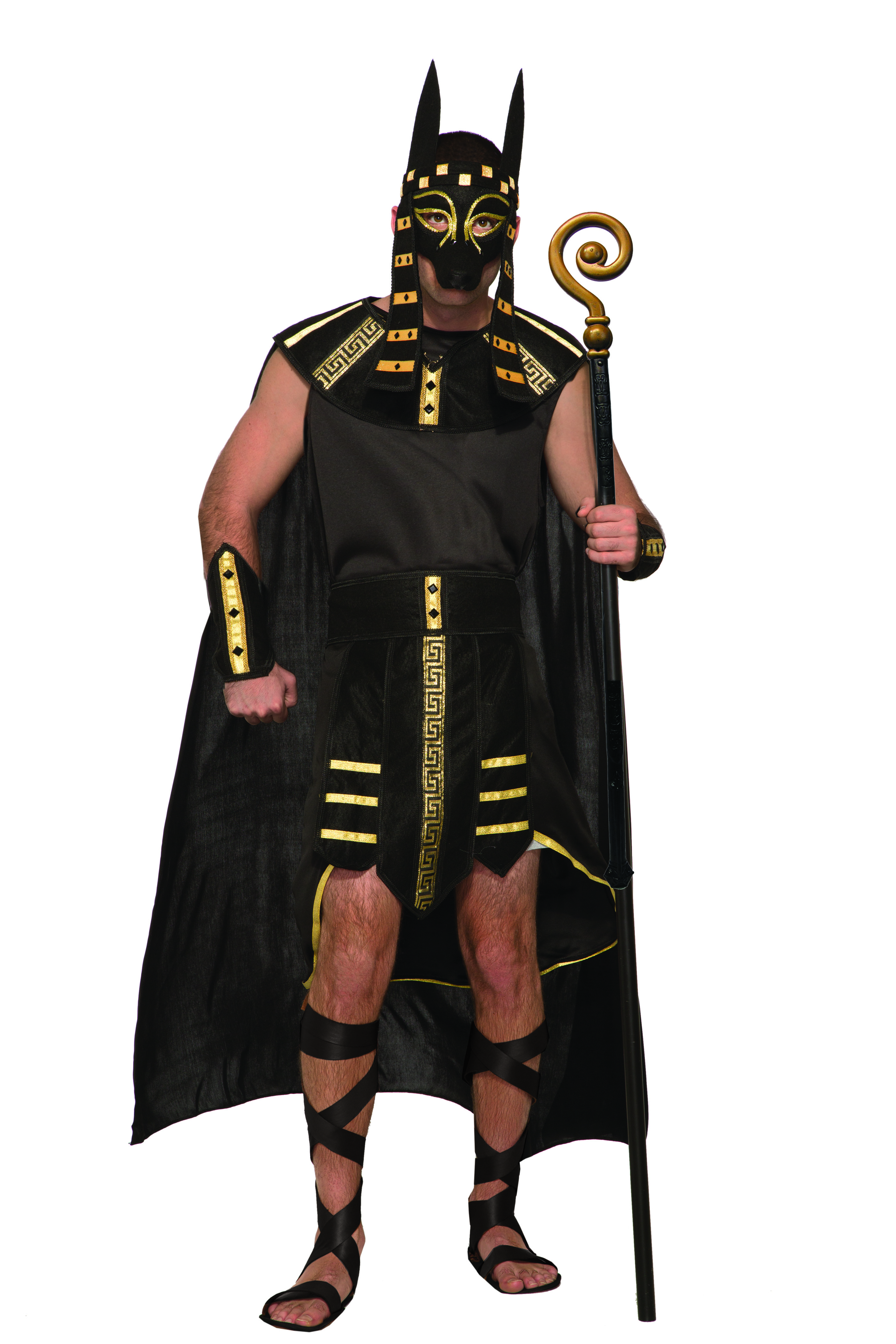 Mythical Creatures Anubis Egyptian God Mens Adult Halloween ...