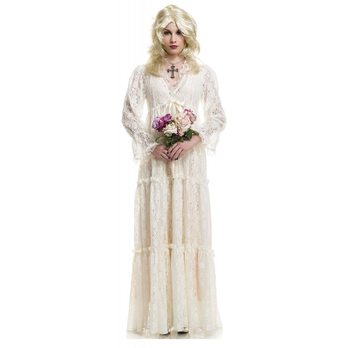 Lost Soul White Wedding Gown Costume Lace Fancy Dress ...
