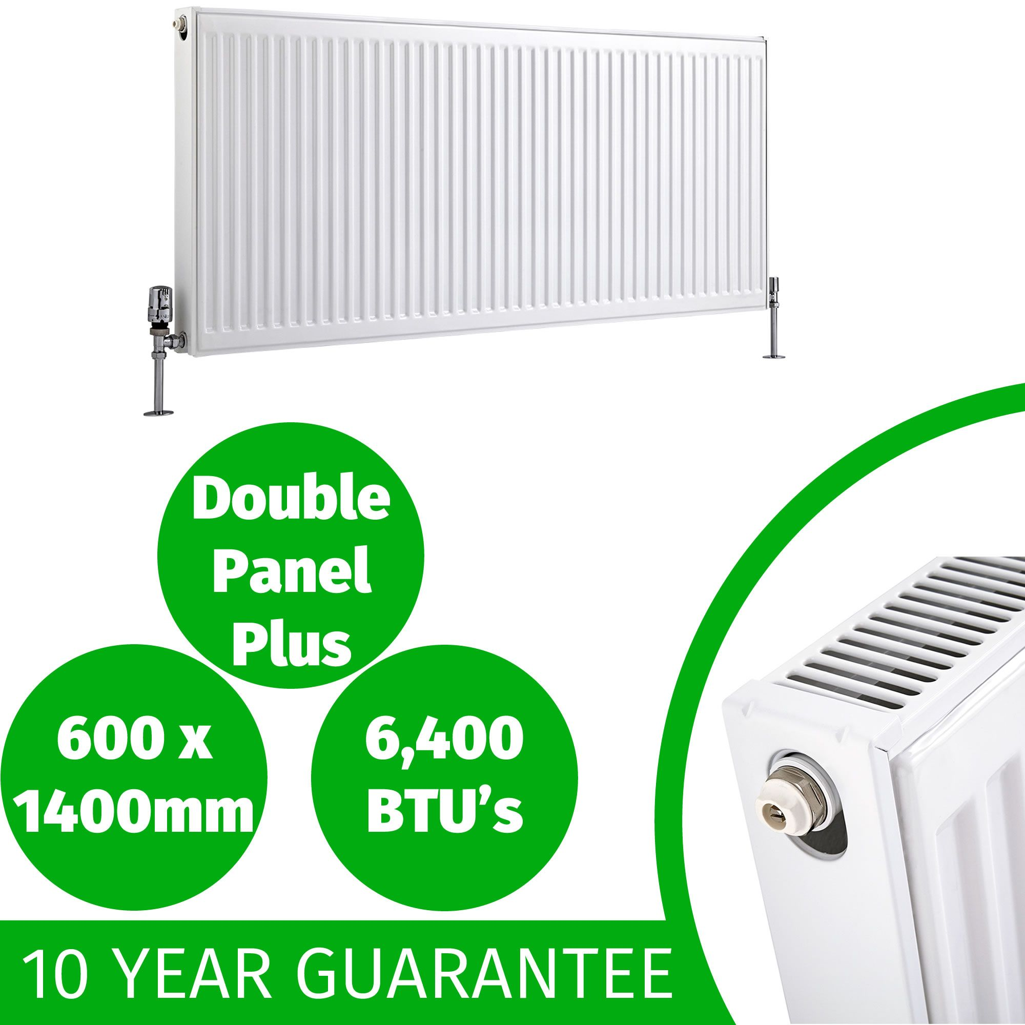 Compact convector radiator white type 11 21 22 400mm 600mm for Best type of home heating