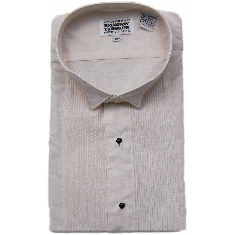 Mens Ivory Tuxedo Shirt Size Medium 15 15 1 2 32 33 New Ebay