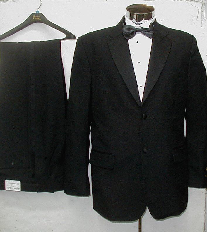 New-Mens-Formal-Wedding-Tuxedo-Black-White-All-Sizes