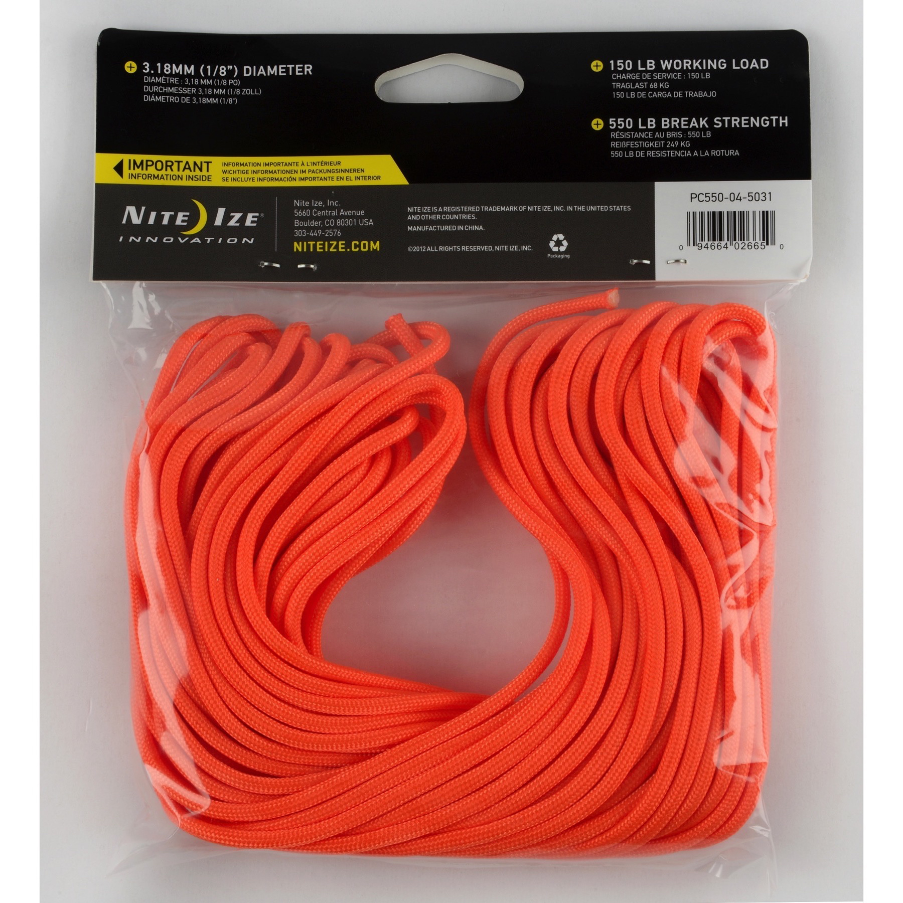 Nite ize 550 paracord high strength utility cord 50 for How to make a paracord utility pouch