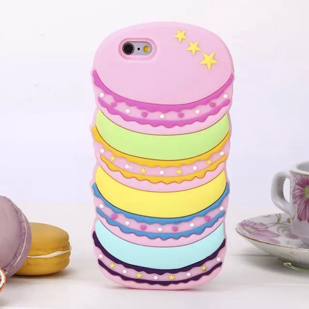 Dibujos animados 3d tel fono silicona macarones hamburgo estuche cubierta para iphone 5 5s 6 6 - Fundas de silicona para iphone 5 ...