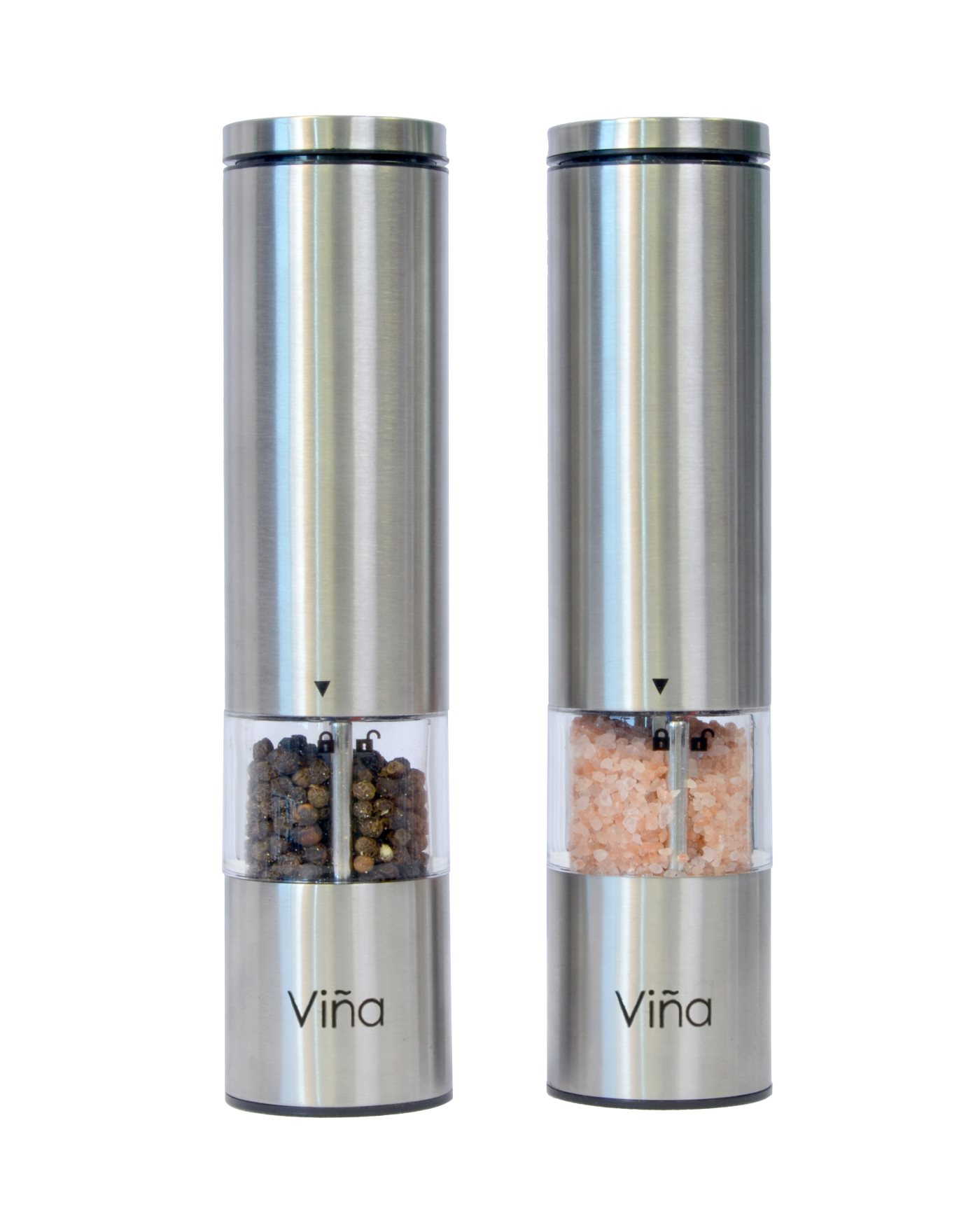 Electric Spice Grinder ~ Vina pack stainless steel salt pepper mill electric