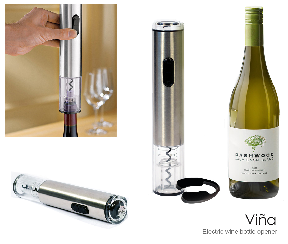 vina electric automatic wine bottle opener corkscrew cork co