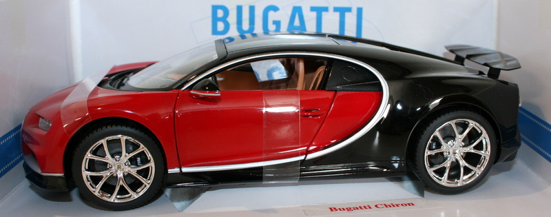 Burago-1-18-Scale-18-11040R-Bugatti-Chiron-Red-amp-Black