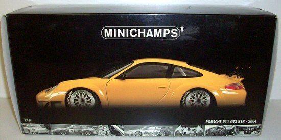 mejor servicio MINICHAMPS 1 18 - 100 046401 046401 046401 PORSCHE 911 GT3 RSR ALMS 2004 - amarillo  distribución global