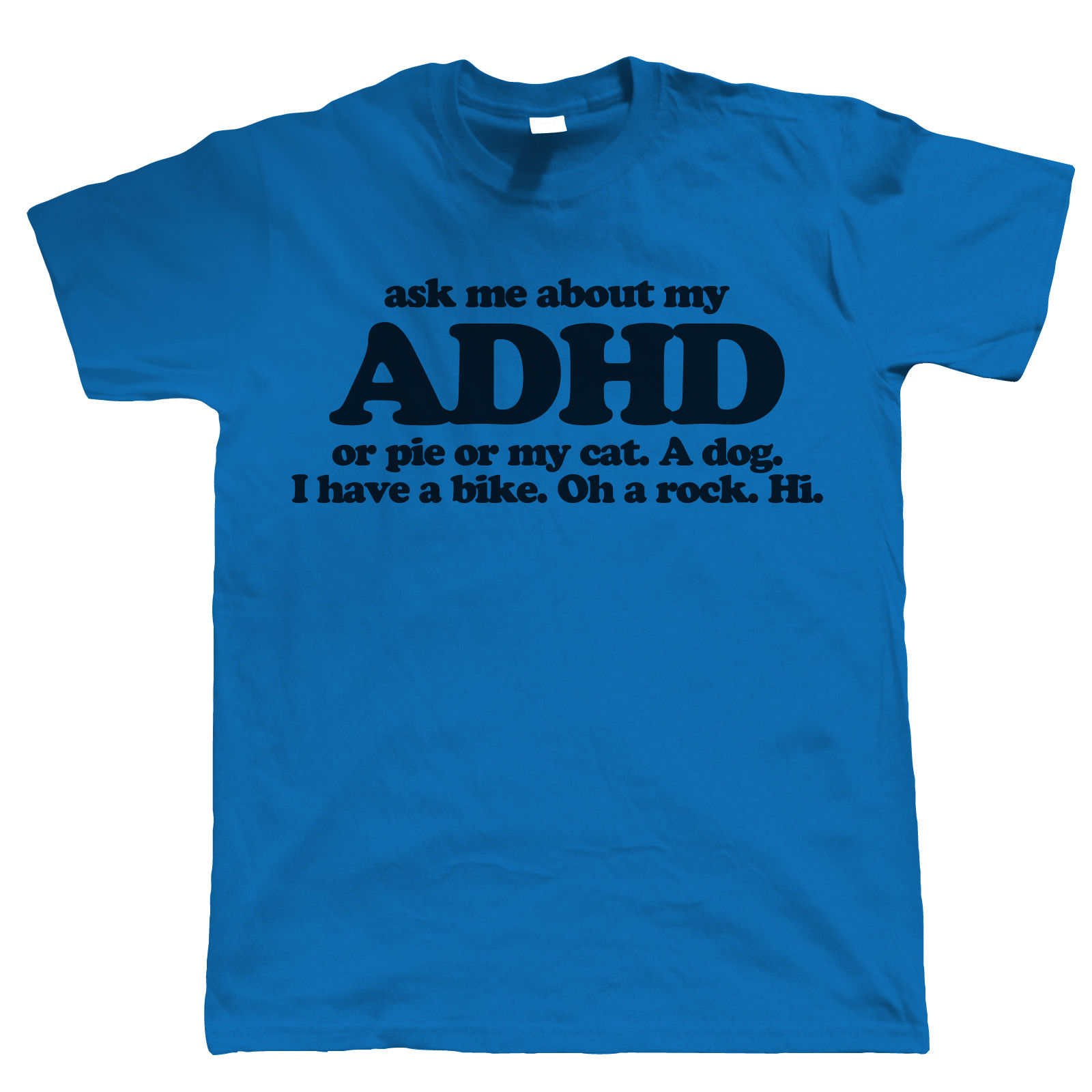 Black dog t shirt ebay - Ask Me About My Adhd Funny Mens T