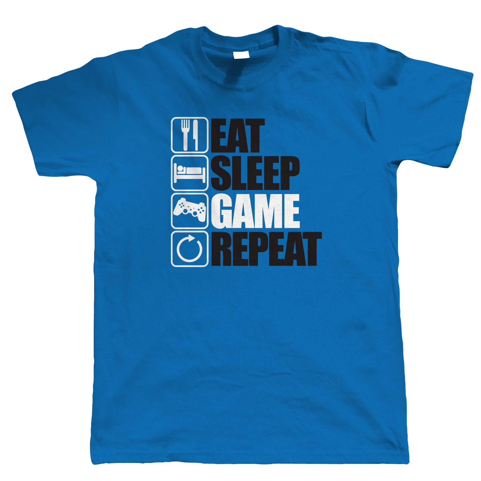 Eat Sleep Game Repeat Gaming T Shirt Pc Gamer Video Game