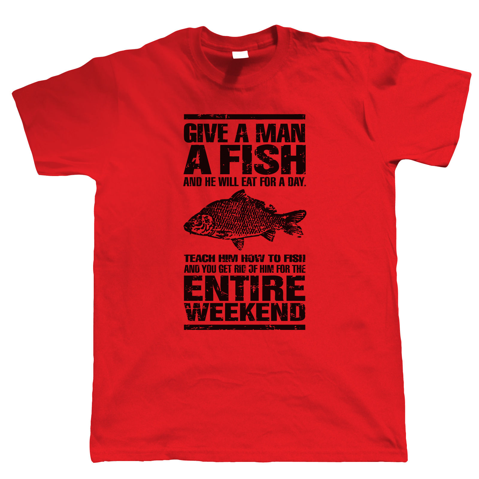 Give a man a fish mens funny fishing t shirt gift for for Funny fishing t shirts