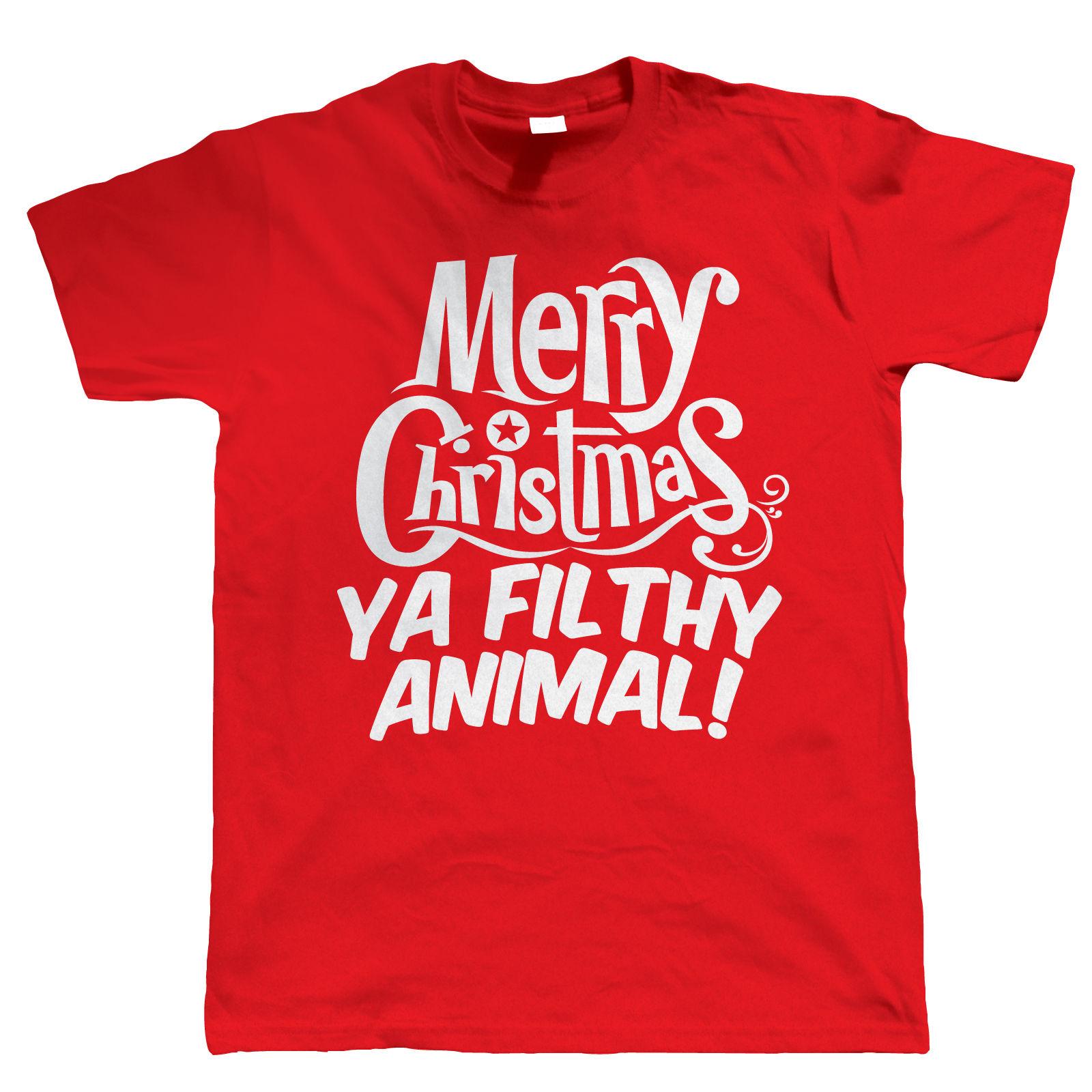 Merry Christmas Ya Filthy Animal Funny T Shirt Gift Secret