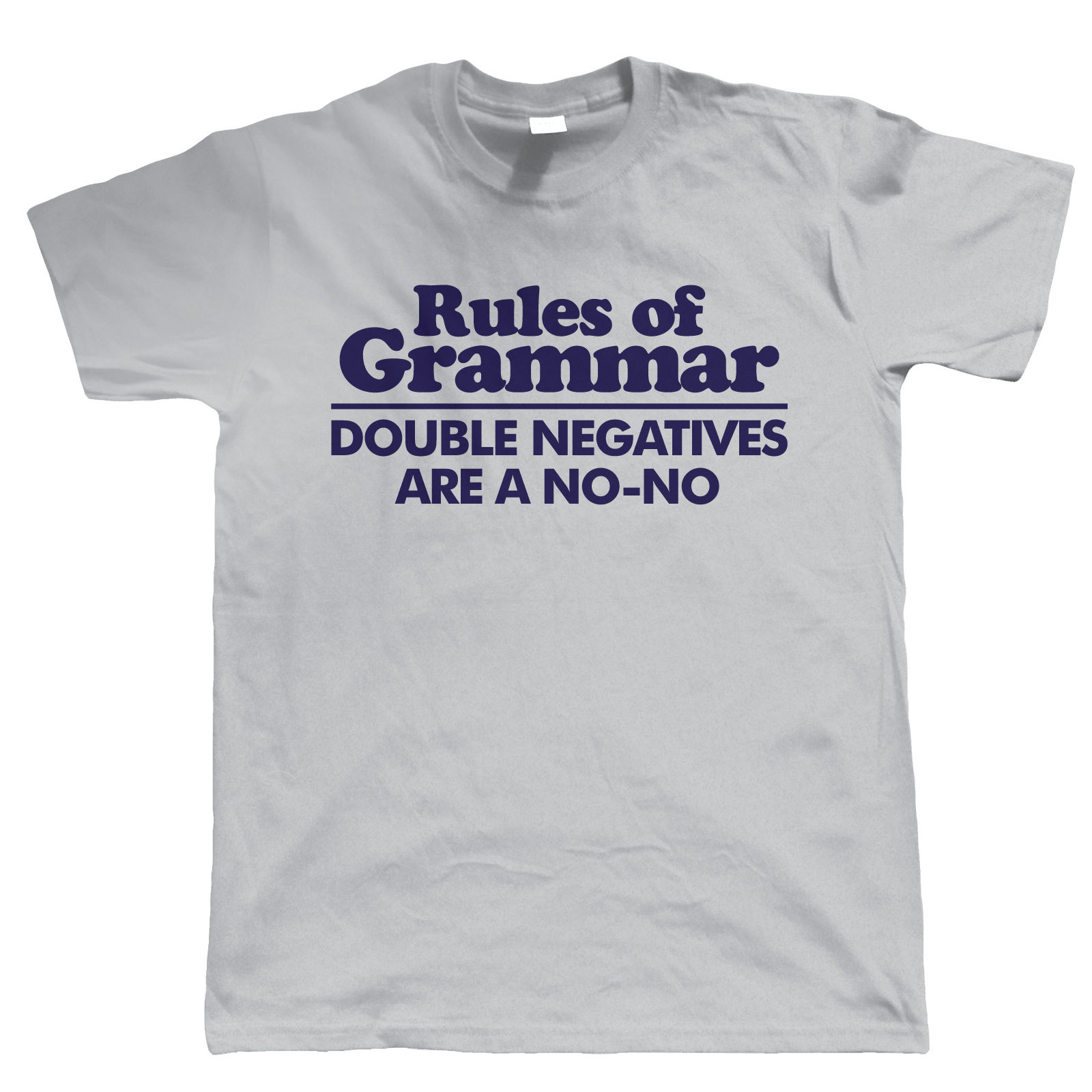 Rules Of Grammar Mens Funny T Shirt - Birthday Gift For Dad Him