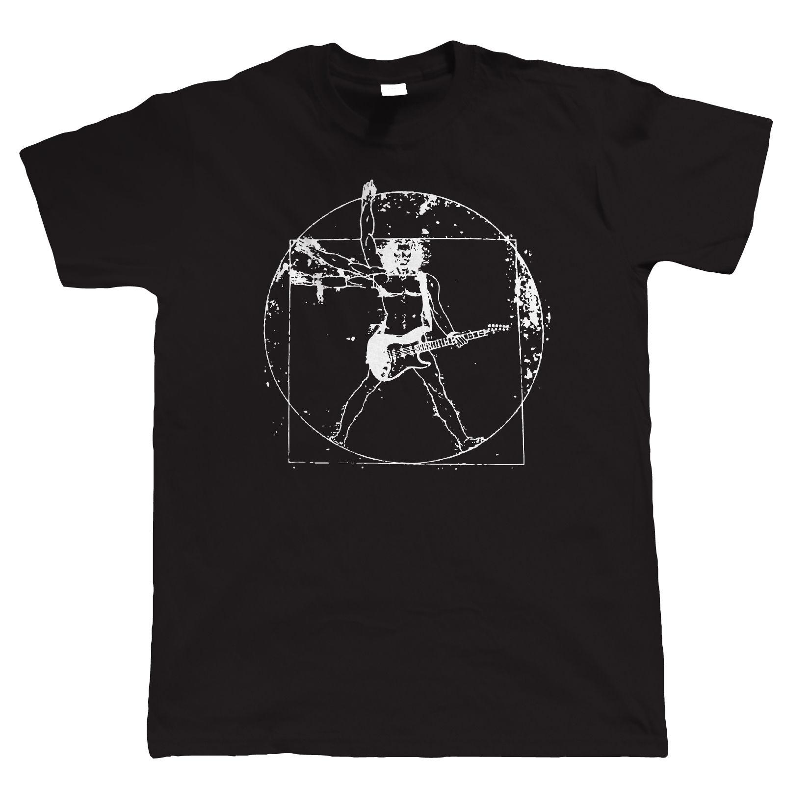 Vitruvian Guitarist, Mens Guitar T Shirt - Birthday Gift for Dad Him