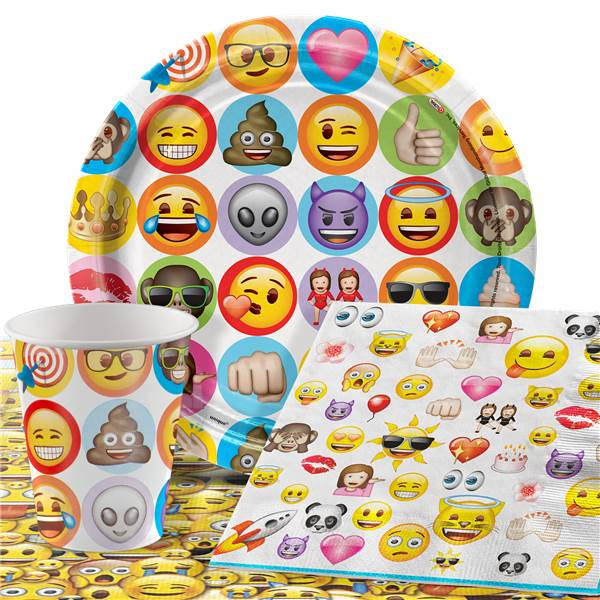 Emoji-Complete-Birthday-Party-Pack-Tableware-Kits-For-8-or-16-Guests