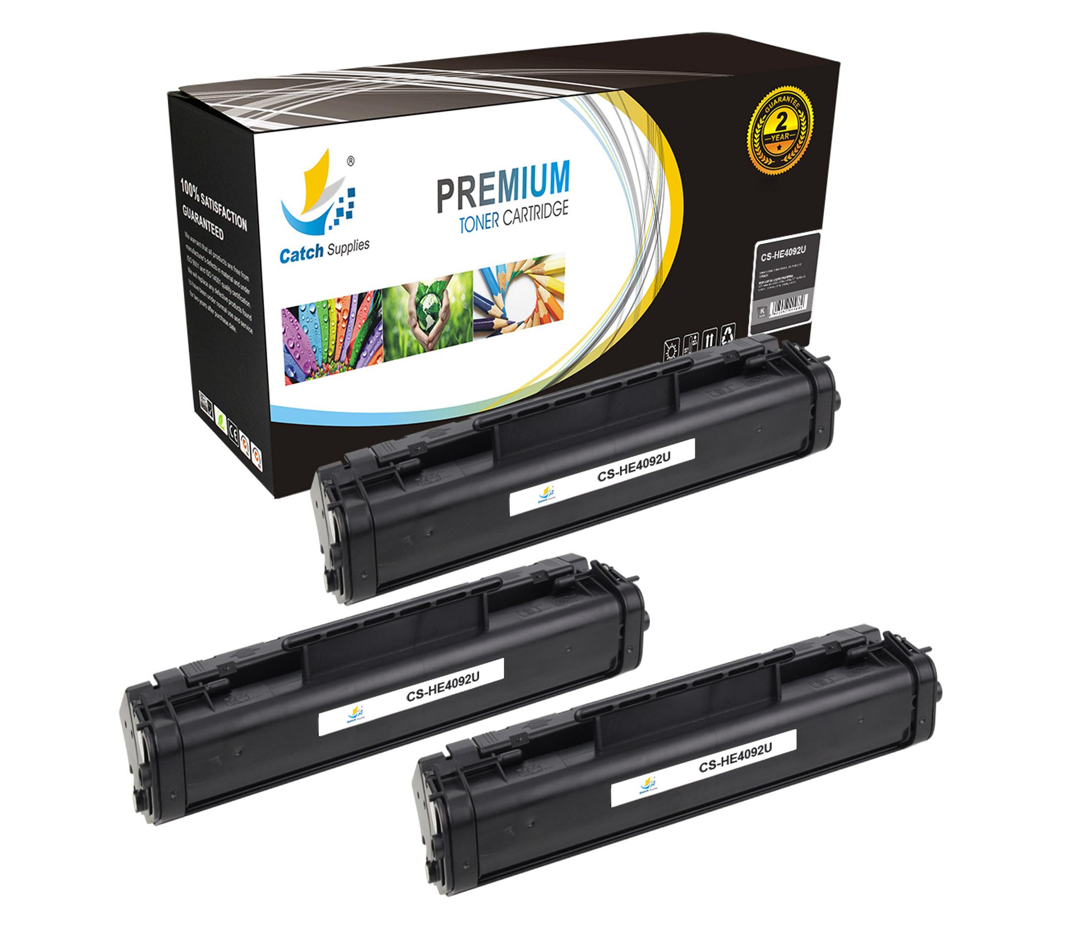 3 black c4092a 92a laser toner cartridges for hp laserjet 1100 1100a 3200 series ebay. Black Bedroom Furniture Sets. Home Design Ideas