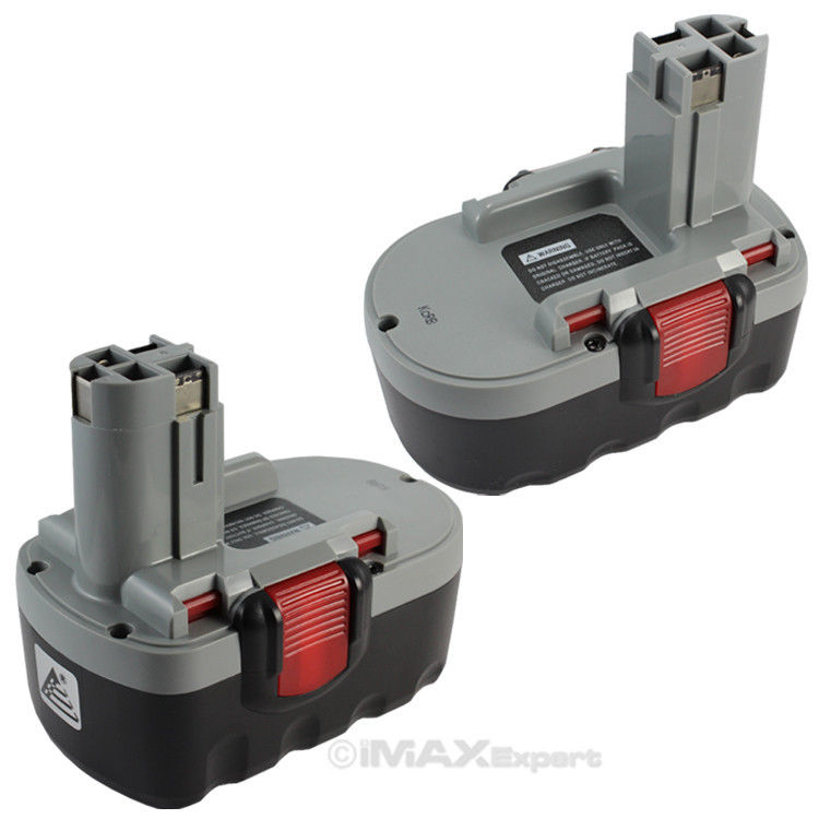 2 x 18V Extended 3.0AH Ni-Mh Battery for Bosch BAT180 BAT181 BAT025 BAT026