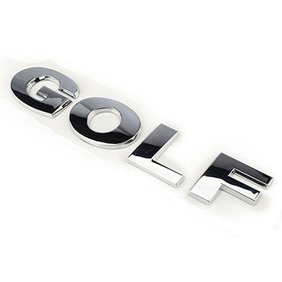 rear trunk lid oem chrome silver golf emblem for vw volkswagen abs decal. Black Bedroom Furniture Sets. Home Design Ideas