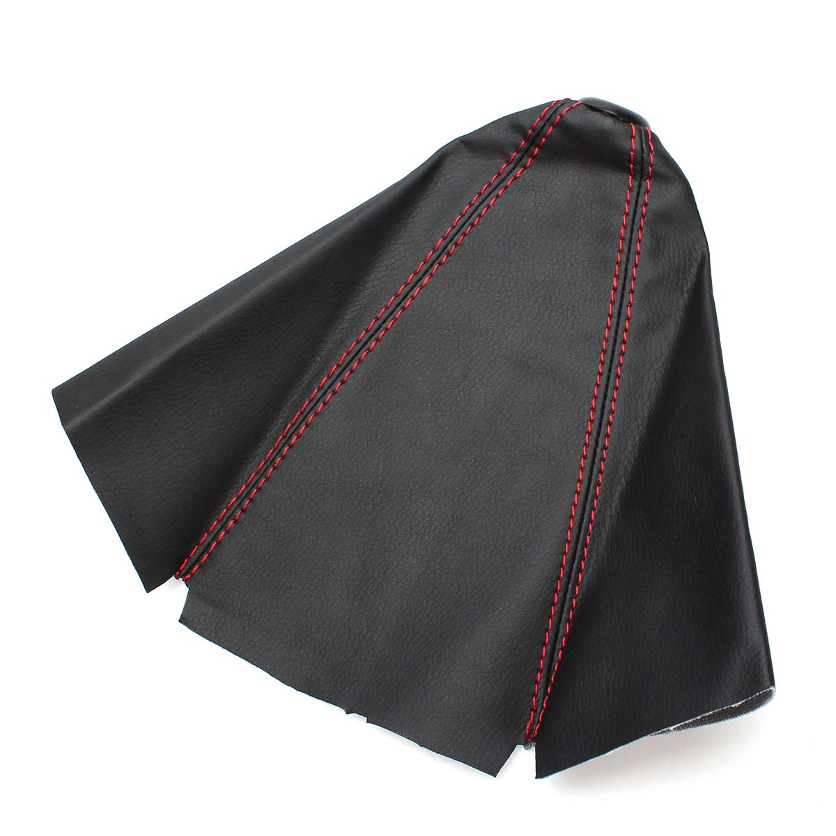 Red Gear Shift Leather Boot Knob Gaiter Glove Cover For