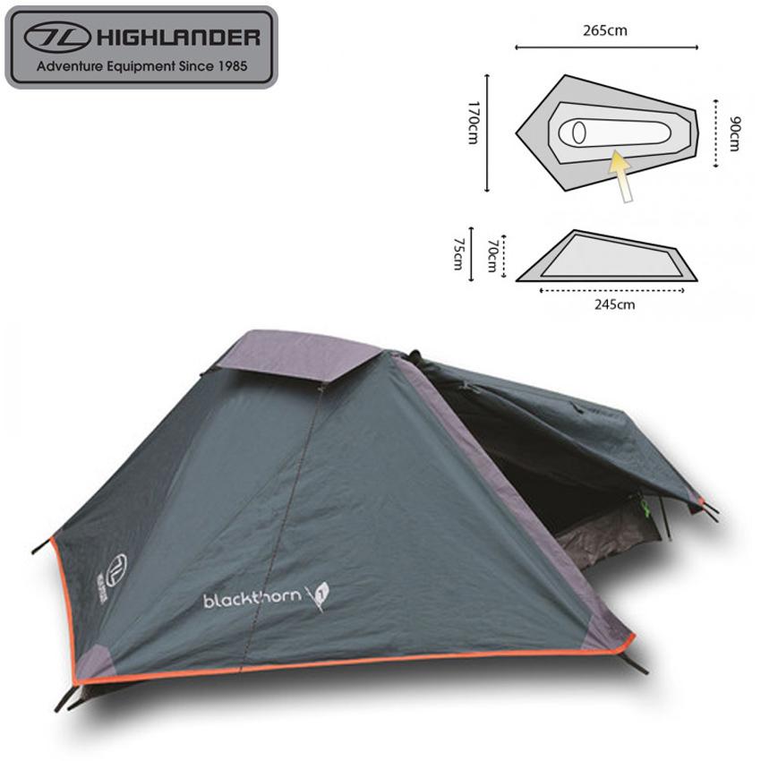 Highlander Zelt Blackthorn 1 Person Hmtc : Highlander blackthorn person tents porch double
