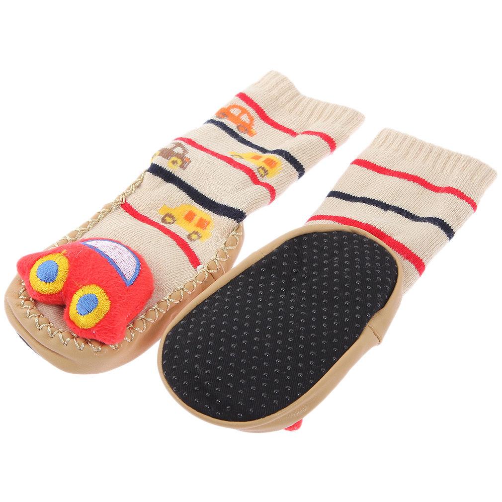 1pair non slip baby infant toddler moccasins shoes socks