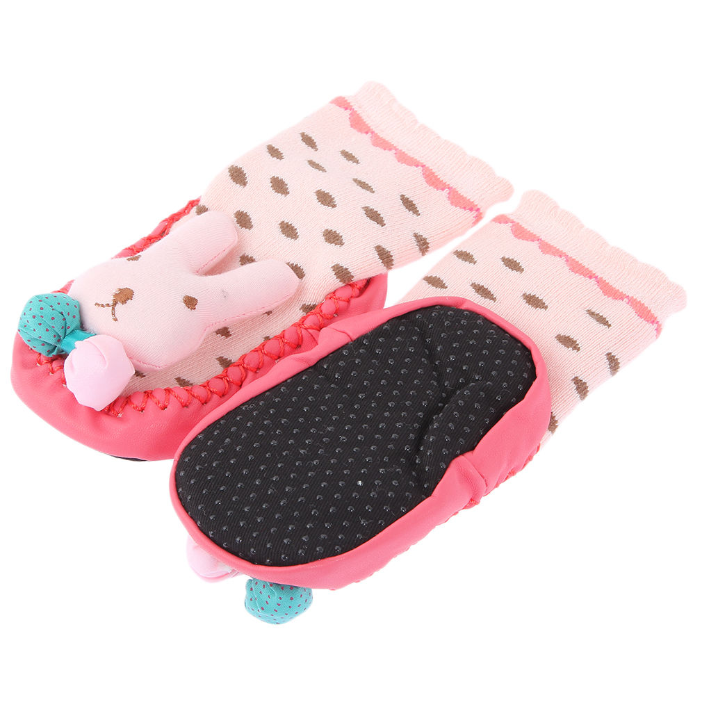 Pair Non Slip Baby Infant Toddler Moccasins Shoes Socks