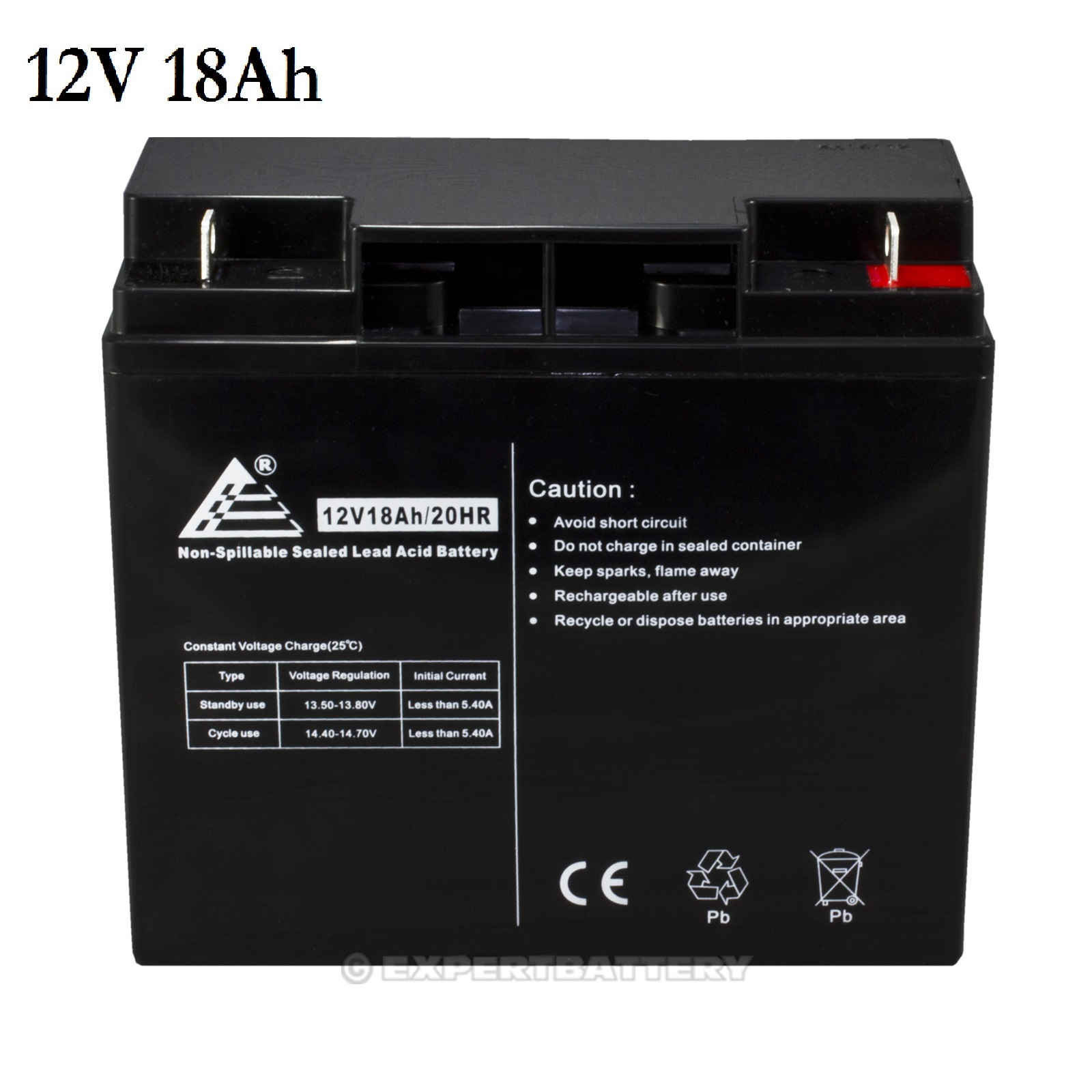 12v 18ah sealed lead acid scooter battery d5745 40648 wp18. Black Bedroom Furniture Sets. Home Design Ideas