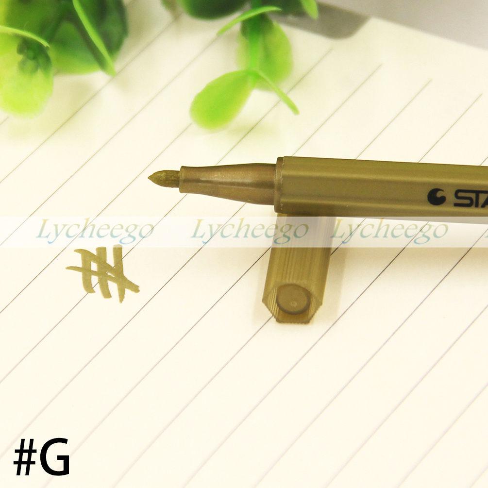 New Colorful Metallic Waterproof Marker Pens Ink Scrapbook Deco Card Making Gift