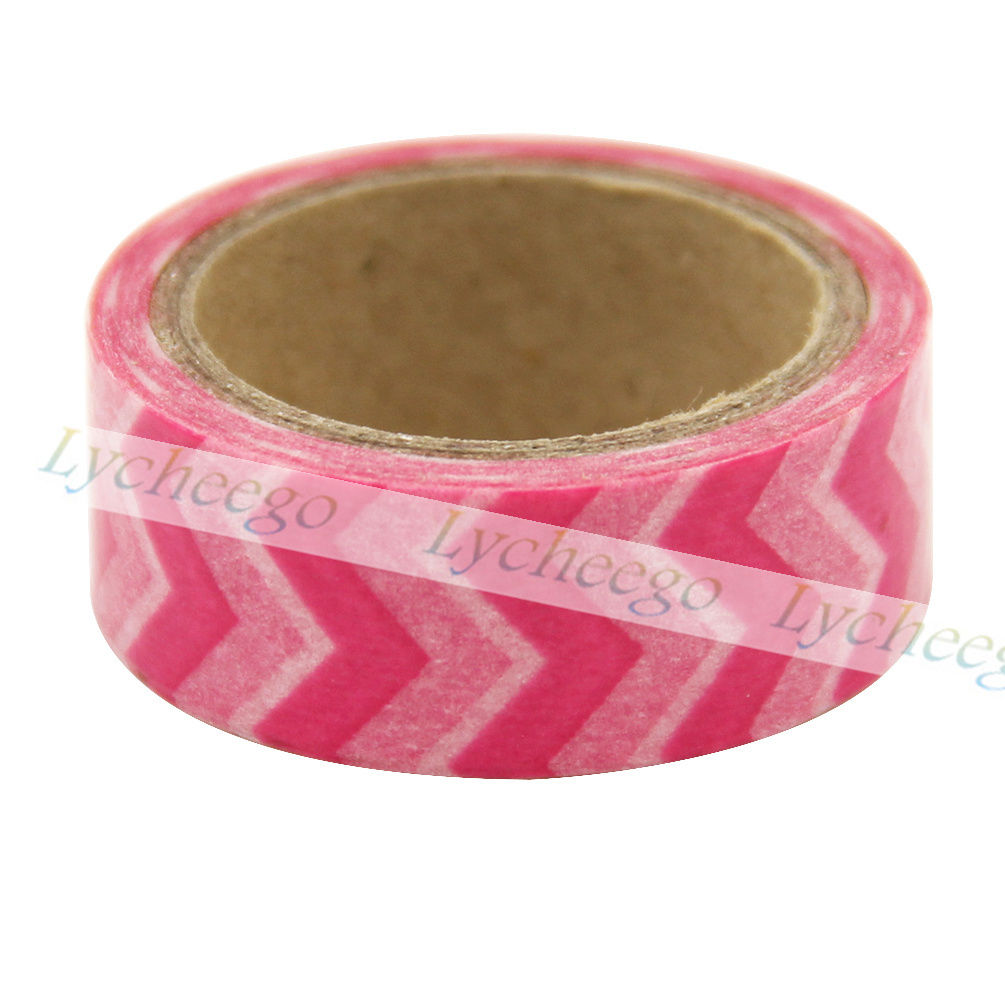 1X 5M Red Blue Wave Decorative Washi Tape Sticky DIY Stationery Adhesive Sticker
