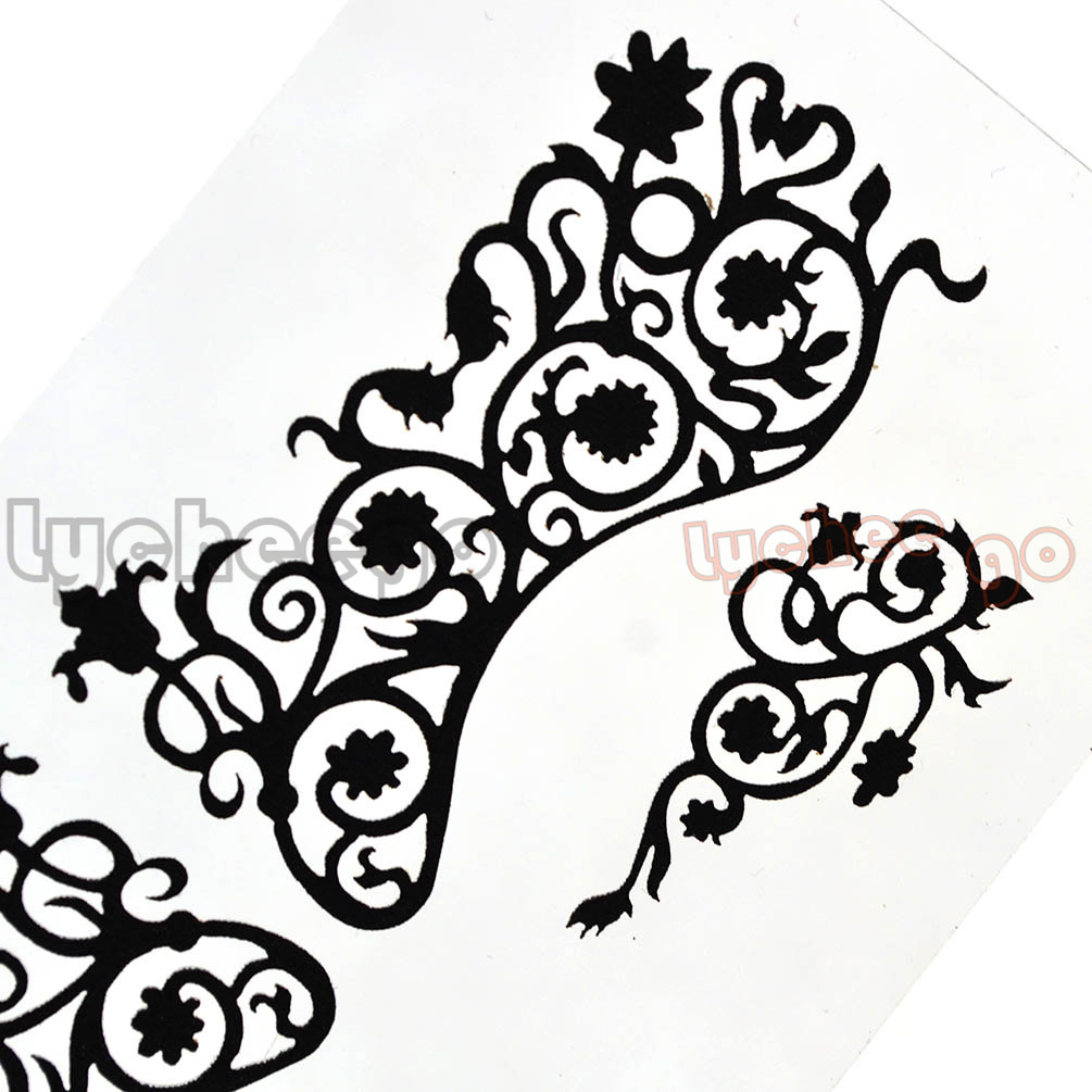 1X Hollow Black Lace Eye Mask Face Tattoo Sticker Decal Party Club Makeup Art