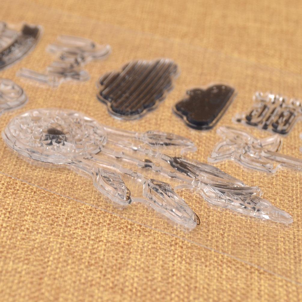 Cute Bird Letter Flowe Pattern Clear Stamp DIY Scropbooking Album Paper Craft