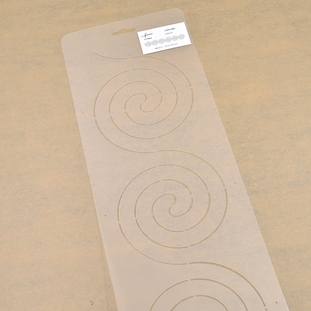 Plastic Spiral Heart Pattern Quilting Stencil Template For